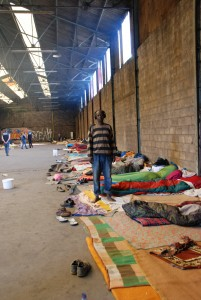 Oboz migrantów