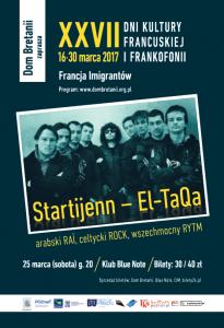 Plakat XXVII Dni Frankofonii - Startijenn - El Taqa