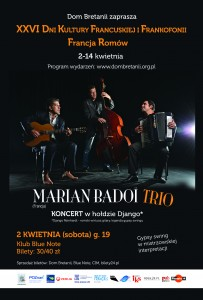 Dni Frankofonii - Marian Badoi Trio