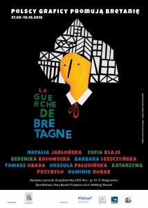 Wystawa Polscy graficy promują Bretanię - plakat