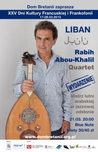 XXV Dni Frankofonii - Rabih Abou Khalil Quartet - Koncert 21.03. w Blue Note