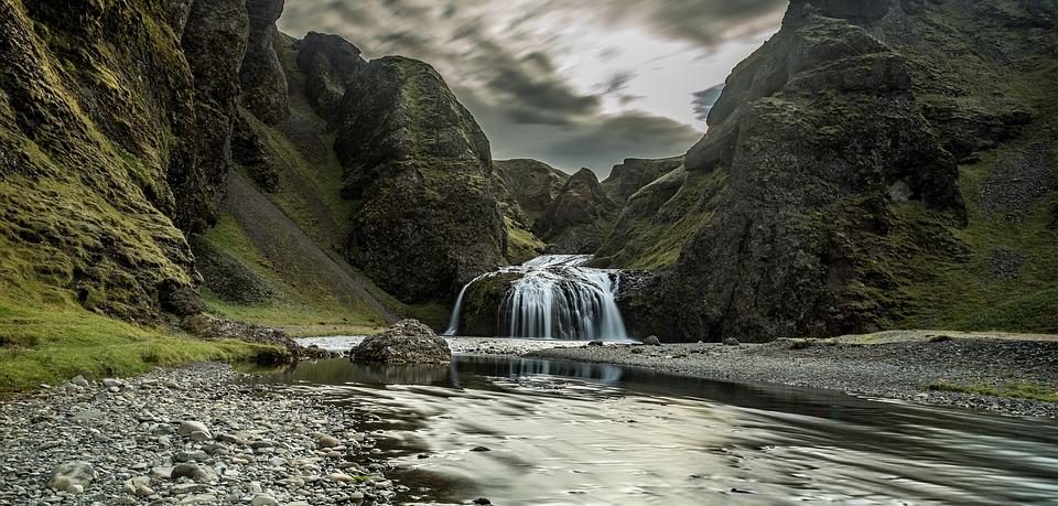 Wodospad Stjórnarfoss waters-3241397_960_720