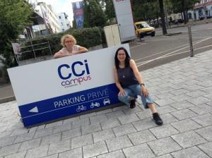 Przed naszą szkołą językową w Strasbourgu