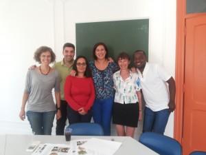Nasza lektorka w swojej międzykulturowej grupie w Lizbonie