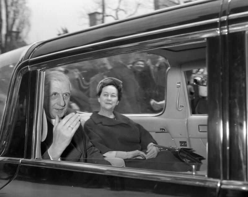 Charles de Gaulle z małżonką Yvonne 21.04.1960 r. Flicr. CC BY-NC SA 2.0