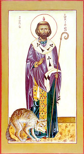 Św. Brioc - ikona namalowana dla Stowarzyszenia Prawosławnego im. Św. Anny CC BY-SA 3.0 / Wiki Commons Źródło: http://www.france-orthodoxe.net/